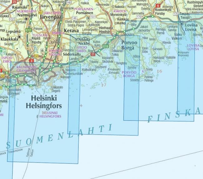 Rannikkokartta 18 Helsingin Edusta 1 50 000 Marinea