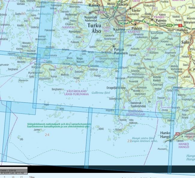 Rannikkokartta 23 Kemio Kimito 1 50 000 Marinea Erikoisliike