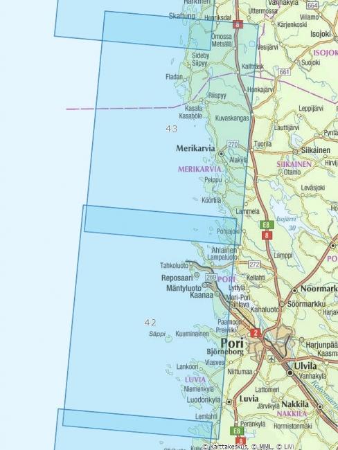 Rannikkokartta 42 Pori 1 50 000 Marinea Erikoisliike Ja