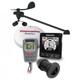 Raymarine i70s monitoimimittari loki/kaiku/lämpö ja langattomalla tuulianturilla