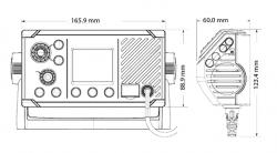 Simrad RS20S VHF-radiopuhelin sisäisellä GPS:llä