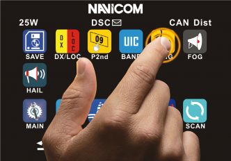 Navicom RT-1050AIS kosketusnäytöllinen AIS/VHF-puhelin NMEA2000/0183 liitännällä