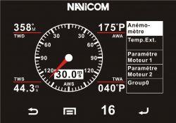 Esimerkkikuva tuulimittarinäytöstä NMEA 2000 verkossa olevalta tuulitiedolta