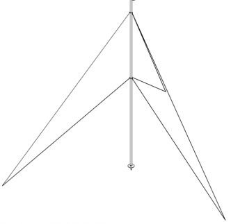 Tuuligeneraattorin Ø 48 mm asennustolpan rikaussarja