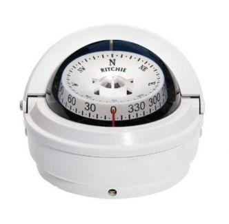 Ritchie Voyager- kompassi pinta-asennuksella, valkoinen