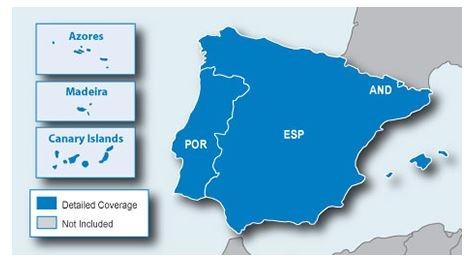 Garmin Espanjan Ja Portugalin Kartta Cne Nt Sd Microsd Marinea