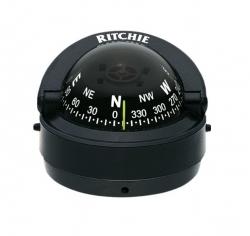 Ritchie Explorer- kompassi pinta-asennuksella, musta