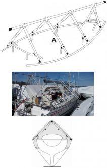 NOA purjeveneen reelinkiteline 10 metriä / 4 tolppaparia