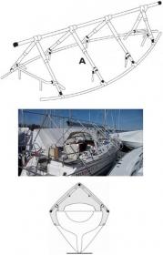 NOA purjeveneen reelinkiteline 10 metriä / 3 tolppaparia