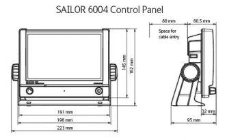 Sailor A-luokan AIS sisältää kosketusnäytöllisen hallintapaneelin, transponderin ja GPS antennin