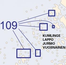 Satamakartta 109, Kumlinge, Lappo, Jurmo, Vuosnainen 1:20 000