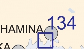 Satamakartta 134, Hamina 1:10 000