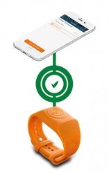 Yhteys Sea-Tagsin ja älypuhelimen välillä käynnissä
