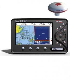 """SEIWA SW701ce 7"""" kaikuplotteri ulkoisella GPS-antennilla"""