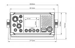 B&G V60 VHF-radiopuhelin ja AIS-vastaanotin sisäisellä GPS:llä