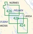 Sisävesikartta 424,  Uimaharju – Koli 1:40 000