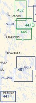 Sisävesikartta 447, Konnevesi – Virmasvesi 1:40 000