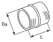 Webasto yhdistämiskappale 90/90 mm