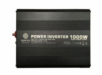 Spectra MS1000 invertteri 1000 W, 12 V kanttiaalto