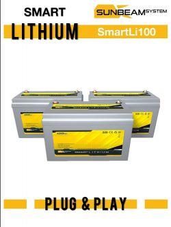 SUNBEAMsystem SMART LITHIUM akku 100Ah, 12 V