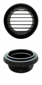 Webasto musta suulake, suora 60 mm kierteillä
