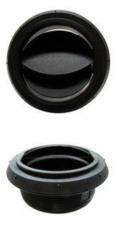 Webasto musta suulake, säädettävä 90 mm kierteillä