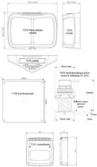 Raymarine Micronet Race Master -järjestelmä T075