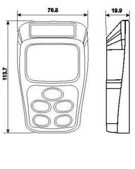 Raymarine Micronet käsinäyttö/kaukosäädin T113
