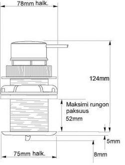Raymarine Micronet loki/lämpö/kaiku-anturi T910