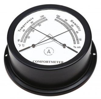 Autonautic Atlantic 95 lämpö-/kosteusmittari, musta