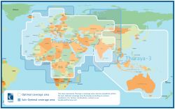 Thuraya satelliittiverkon toiminta-alue