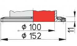 Vetus Silikoninen joutsenkaulaventtiili CHINOOK S,  kiinteä kiinnitys