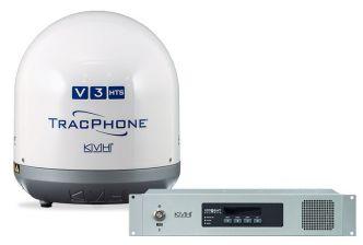 KVH TracPhone V3-HTS mini-VSAT SatCom-järjestelmä