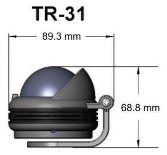 Ritchie Trek- kompassi sanka-asennuksella, musta