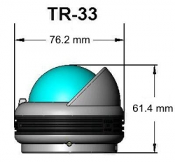 Ritchie Trek- kompassi pinta-asennuksella, valkoinen