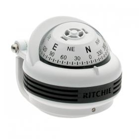 Ritchie Trek- kompassi sanka-asennuksella, valkoinen