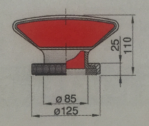 Vetus Silikoninen joutsenkaulaventtiili TRAMON, avattava kiinnitys