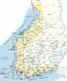 Vektorikarttakooste koko Suomen rannikko Iso Loistoon