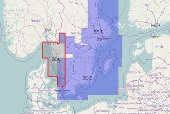 Vektorikartat Ruotsi karttasarja SE-L Ruotsin länsiosa Iso Loistoon