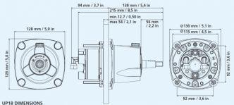 Ultraflex GoTech™-OBF hydrauliohjaus max 115 hv perämoottoreille