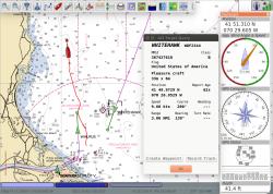 Esimerkkikuva navigointiohjelmasta. Ohjelmisto ei kuulu tuotteen toimitussisältöön.