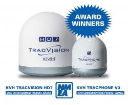 KVH on aina ollut NMEA-palkittu parhaana satelliittiantennijärjestelmänä markkinoilla