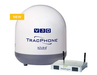 KVH TracPhone V30 mini-VSAT SatCom-järjestelmä