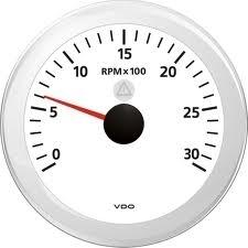 VDO Viewline Kierroslukumittari 0-3000 rpm 85 mm, valkoinen