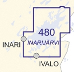Sisavesikartta 480 Inarijarvi 1 50 000 Marinea Erikoisliike Ja