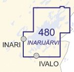 Sisävesikartta 480, Inarijärvi 1:50 000