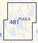Sisävesikartta 481, Puula 1:50 000