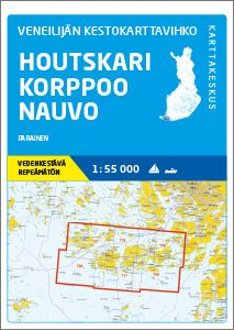 Veneilijän Kestokartta Houtskari-Korppoo-Nauvo, 1:55 000