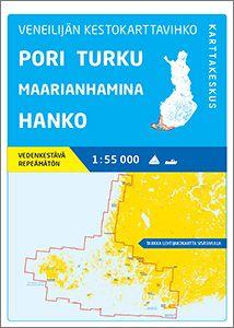 Veneilijän Kestokartta Pori-Turku-Maarianhamina-Hanko, 1:55 000