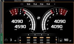 Esimerkkikuvaa Simrad NSS Evo2 laitteen näytöltä